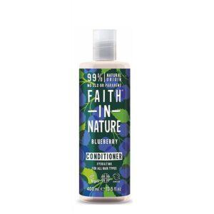Kondicionierius drėkinantis plaukus Faith in Nature 400ml (su mėlynėmis)
