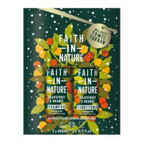 Rinkinys Faith in Nature (su greipfrutų ir apelsinų aromatu)