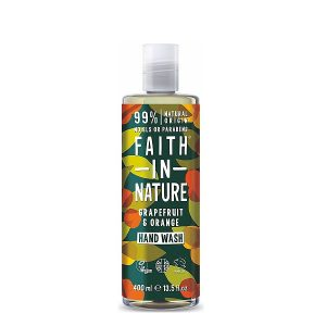 Skystas rankų muilas Faith in Nature Grapefruit & Orange 400ml
