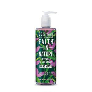 Skystas rankų muilas Faith in Nature Lavender & Geranium 400ml