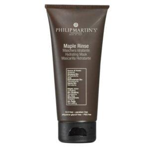 Drėkinanti plaukų kaukė pažeistiems plaukams Philip Martin's Maple Rinse 200ml