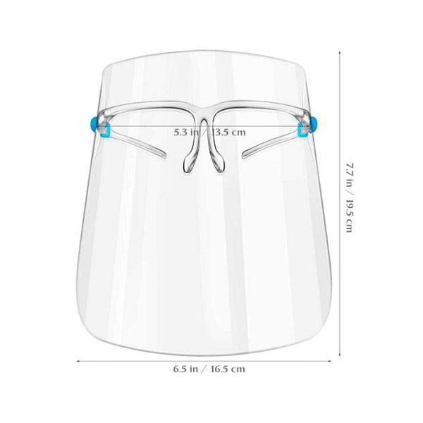 Apsauginis veido skydelis Face Shield su akinių rėmu (2)