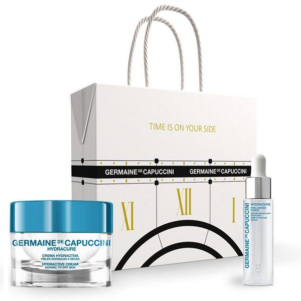 Dovanų rinkinys Germaine De Capuccini Hyaluronic Force 15ml + Hydracure NorDry (sausai odai)