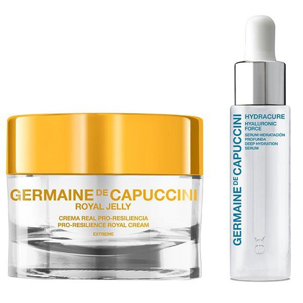 Dovanų rinkinys Germaine De Capuccini Hyaluronic Force 15ml + Royal Jelly Extreme (sausai odai) (2)