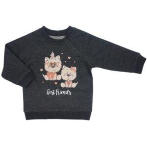 Pašiltintas džemperis CAN GO Best friends 203 (68cm-98cm)