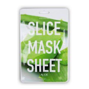 Raminanti kaukė KOCOSTAR Aloe Vera Slice Mask Sheet 12vnt