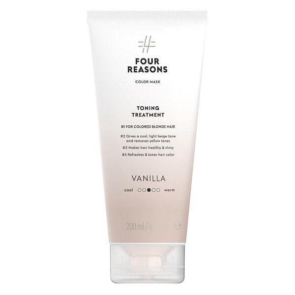 Four-Reasons-Color-Mask-Vanilla-sävyttävä-tehohoito-vaaleille-hiuksille