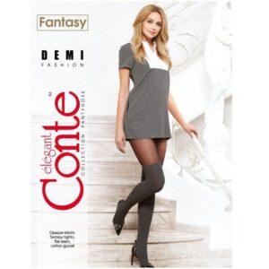 Juodos pėdkelnės su kojinių imitacija Conte Fantasy Demi