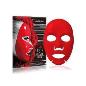 Kaukė drėkinanti ir stangrinanti odą OMG RED + SNAIL MASK