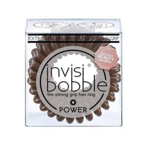 Plaukų gumytės Invisibobble Power Pretzel brown, 3vnt (3)