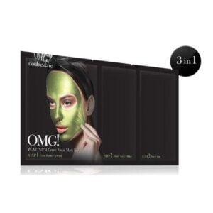 Rinkinys OMG Platinum Green Facial Mask Kit