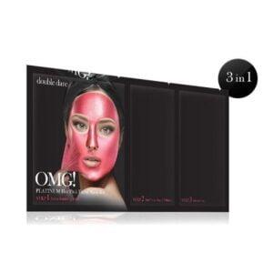Rinkinys OMG Platinum Hot Pink Facial Mask Kit