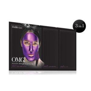 Rinkinys OMG Platinum Purple Facial Mask Kit