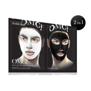 Rinkinys vyrams OMG Man In Black Facial Mask Kit