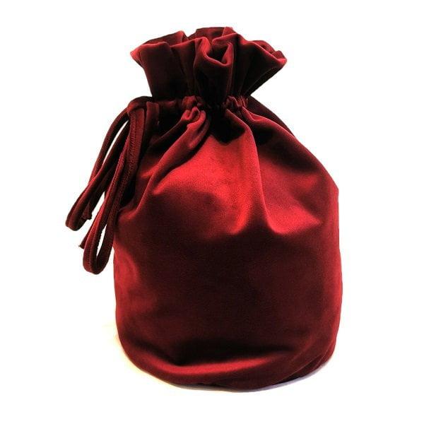 Tamsiai raudonas prabangus ranku darbo aksomo maiselis5