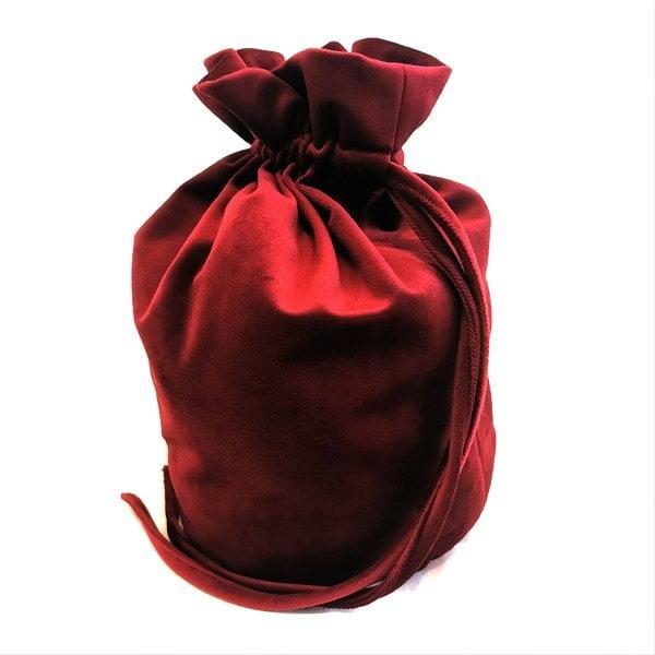Tamsiai raudonas prabangus ranku darbo aksomo maiselis6