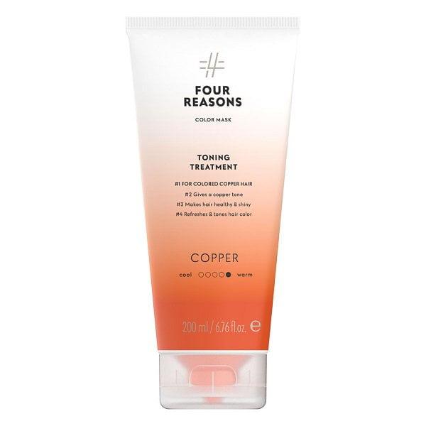 Tonuojanti kaukė vario spalvos plaukams Four Reasons Color Mask Copper 200ml
