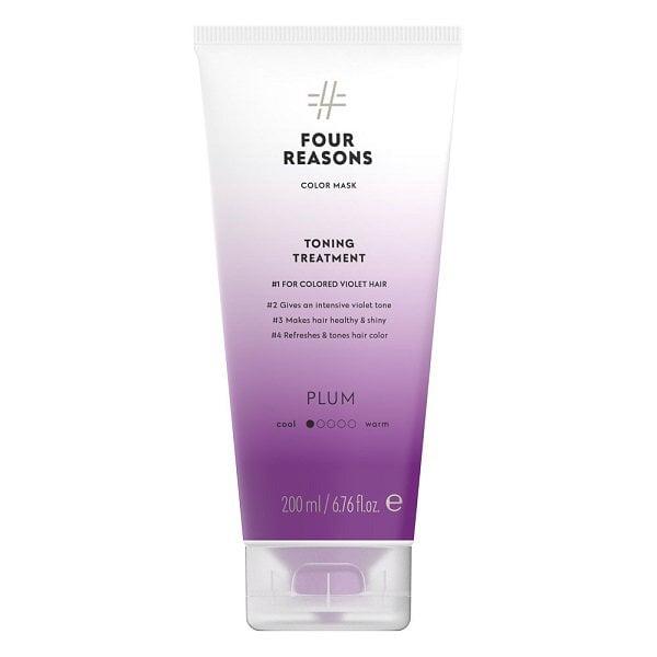 Tonuojanti kaukė violetiniams plaukams Four Reasons Color Mask Plum 200ml