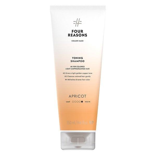 Tonuojantis šampūnas vario atspalvių plaukams Four Reasons Color Mask Apricot 250ml