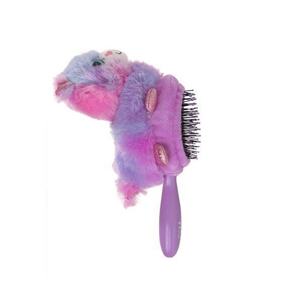 Plaukų šepetys vaikams WetBrush Plush Lama iš šono