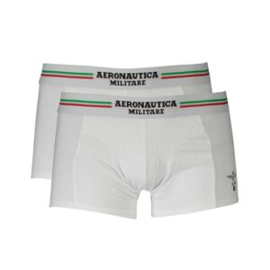 Vyriškos trumpikės Aeronautica Militare Boxer, baltos 2vnt
