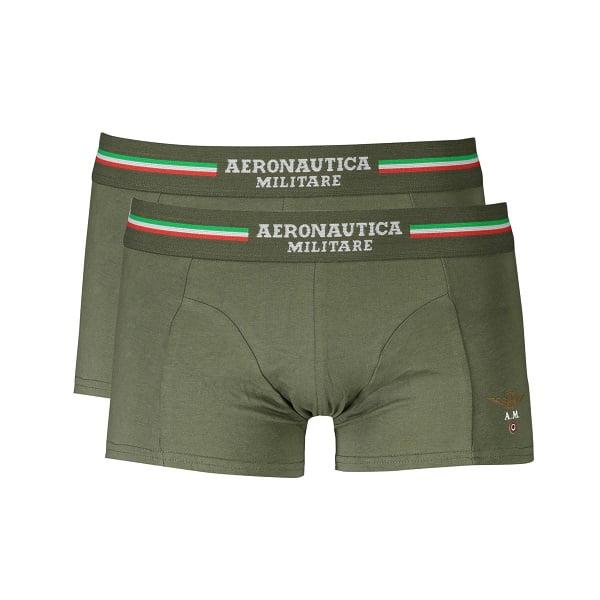 Vyriškos trumpikės Aeronautica Militare Boxer, žalios 2vnt