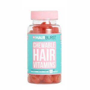 Maisto papildai subalansuojantys plaukų augimą Hairburst 60vnt (braškių ir juodųjų serbentų skonio)