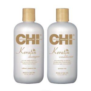 Rinkinys plaukų atkūrimui su keratinu CHI Keratin Duo 355ml+355ml