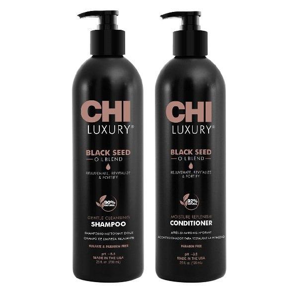 Rinkinys plaukų drėkinimui ir atkūrimui CHI Luxury Duo 739ml+739ml