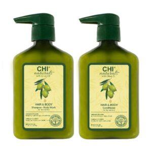 Rinkinys plaukų ir kūno priežiūrai CHI Olive Organic Duo 340ml+340ml