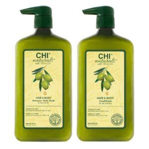 Rinkinys plaukų ir kūno priežiūrai CHI Olive Organic Duo 710ml+710ml