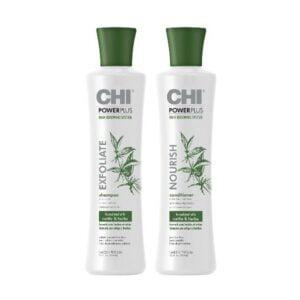Rinkinys slenkantiems plaukams CHI Power Plus Duo 355ml+355ml