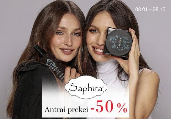 Akcija Saphira 50% nuolaida antrai prekei
