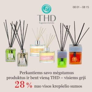 Perkant bent vieną THD namų kvapą grįžta 28 nuo viso krepšelio