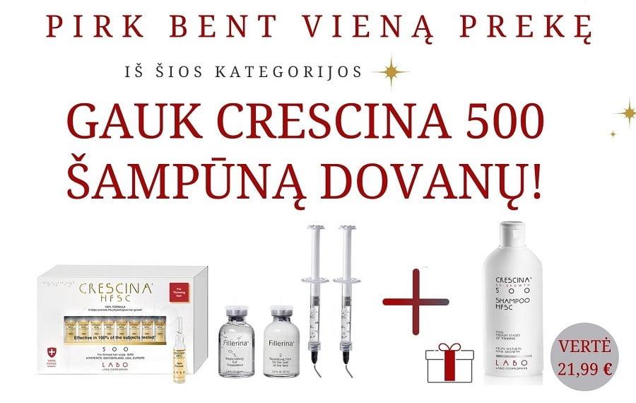 akcija GAUK CRESCINA šampūną dovanų